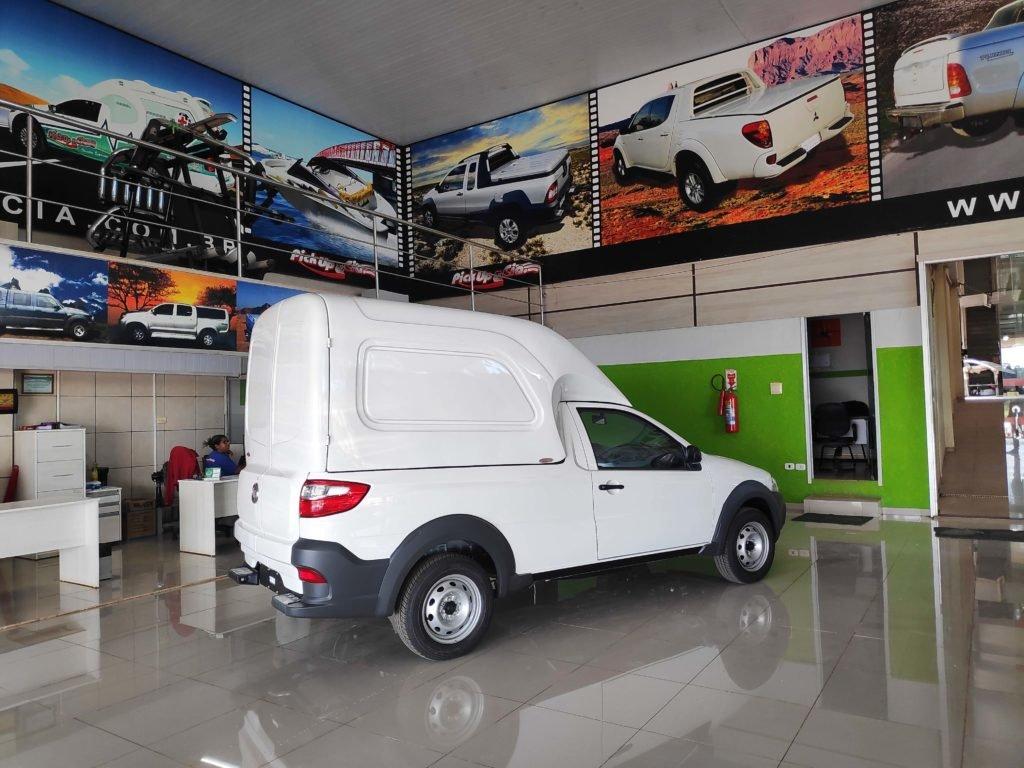Capota de fibra carga alta furgão para Fiat Strada