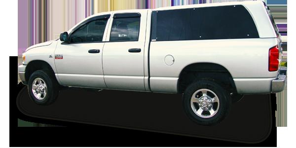Capota em fibra de vidro modelo reta para Dodge Ram