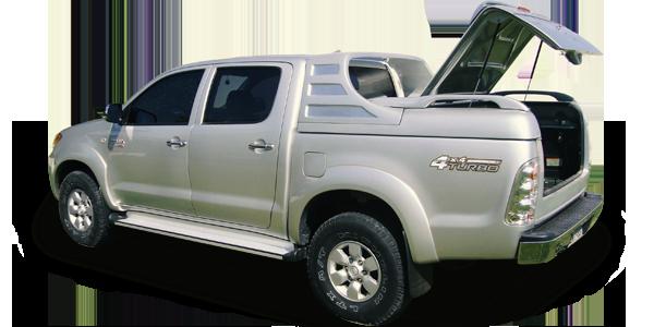 Tampão marítimo alto liso em fibra de vidro para Toyota Hilux Cabine Dupla, tampão para Hilux